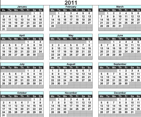 Calendar For 2011 2011 Calendar Uk