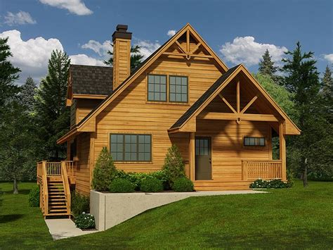mountain house plans mountain home plan with walkout