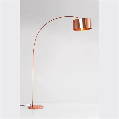 Copper arc floor lamp by i love retro notonthehighstreet com