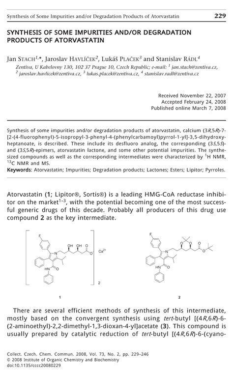 Pdf What Are Some Products by Pdf Synthesis Of Some Impurities And Or