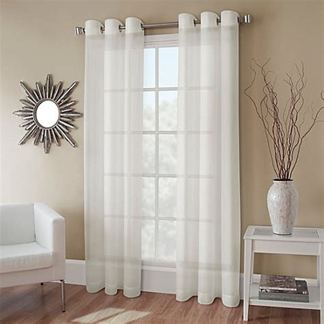 132 inch drapes buy crushed voile 132 inch grommet top sheer window
