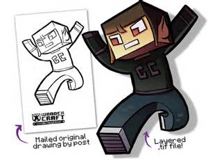 Minecraft Character Drawing Template by Monthly Epic Contest May Wondercraft