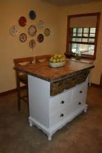 baby changing table turned into kitchen island for the