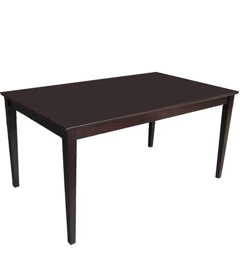 venus dining table in walnut finish by godrej interio by