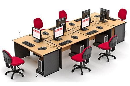 Meja Laci highpoint set meja kantor one series beech workstation 4 high point one