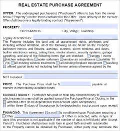 Commercial Real Estate Purchase Agreement Template real estate purchase agreement template best business