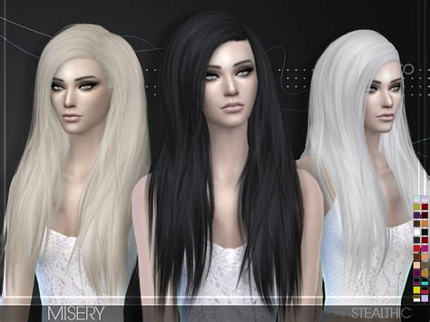 vanity female hair by stealthic at tsr sims 4 updates stealthic misery female hair