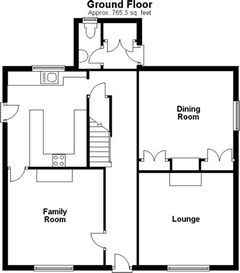 floor plan of the secret annex 3 bedroom detached house for sale in maidstone kent me15