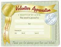 volunteer appreciation certificates free templates quot volunteer appreciation quot certificate