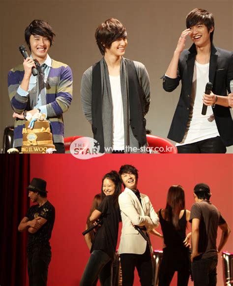 recount text biography lee min ho lee min ho kim bum surprise visit jung il woo fan meeting
