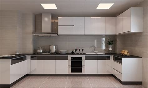 Lower Kitchen Cabinets Candany Modern Lacquer Kitchen Cabinet Aluminium Composite