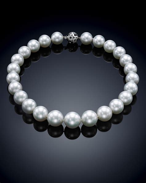 20mm pearl classic south sea pearl necklace 16 0 20mm assael