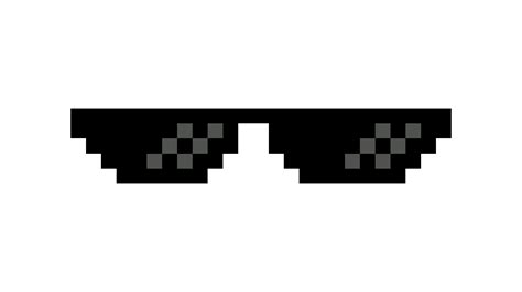 Black Glasses Meme - thug life dark glasses transparent png stickpng