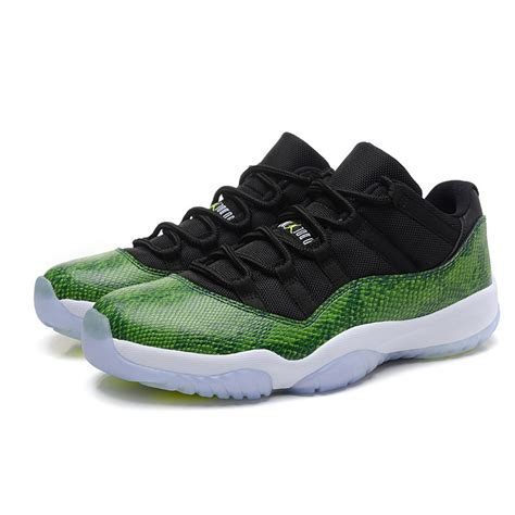 jordon sneakers air 11 retro cool low green black shoes for