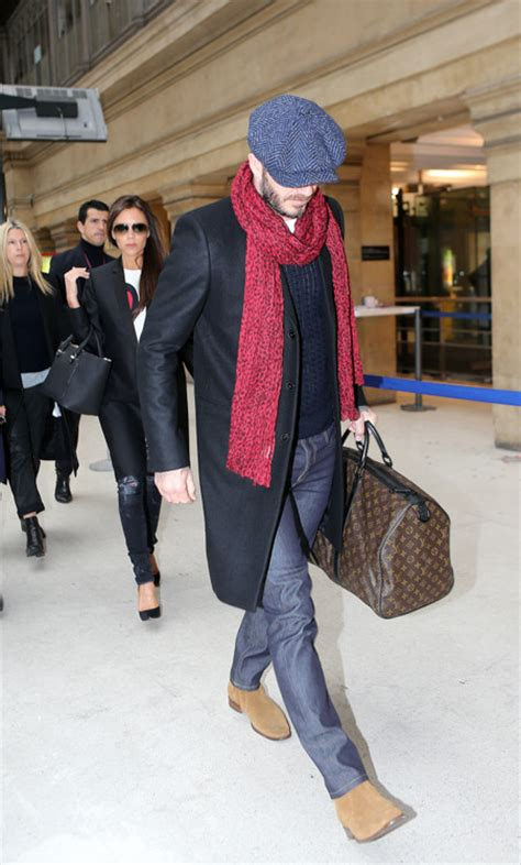 Louis Vuitton David Beckham With His Louis Vuitton Sac Squash And Pegase Luggage by David And Beckham Leave With Louis Vuitton