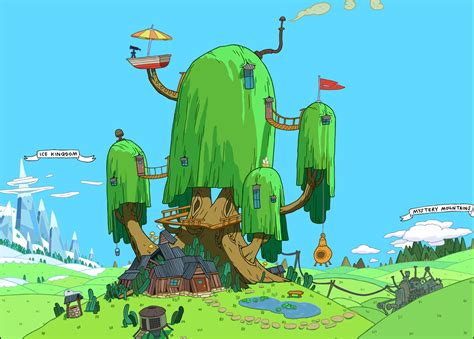 Adventure House by Most Beautiful Places In Ooo Adventure Time With Finn