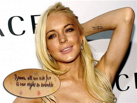 lindsay lohan tattoos tattoos damn cool pictures