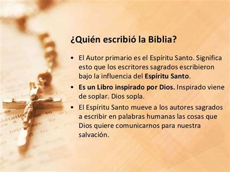 quien escribio la biblia eb 01 la biblia