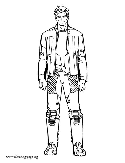 star lord coloring page guardians of the galaxy peter quill coloring page