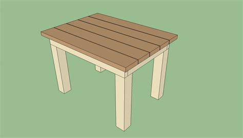 Outdoor Table Plans by Patio Table Plans Howtospecialist How To Build Step