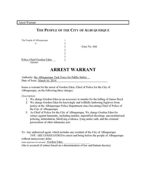 Nyc Arrest Warrant Search Of Albuquerque City Council Meeting Attempt
