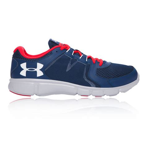 armour sports shoes armour thrill 2 mens blue running road sports shoes