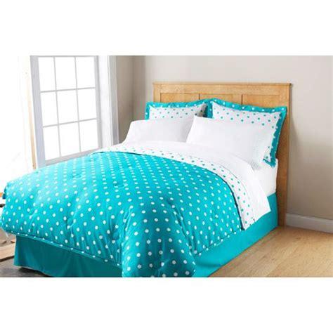 polka dot bedroom mainstays dot bed in a bag bedding set polka dot bed in a