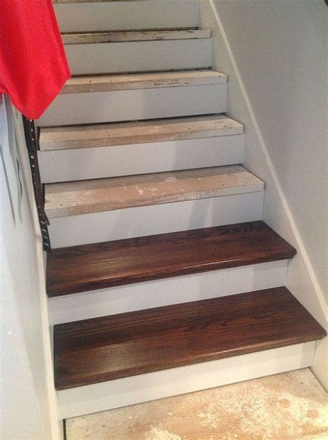 DIY From Carpet to Beautiful Wood Stairs   Cheater Version