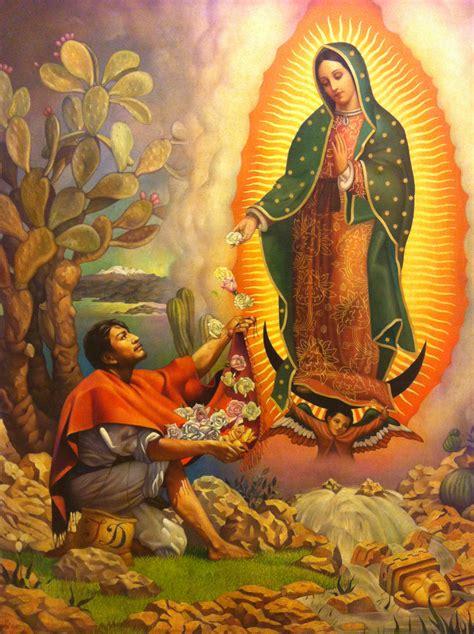 dibujos cat licos juan diego y la virgen de guadalupe llena de estrellas con tus rosarios el sagrado manto