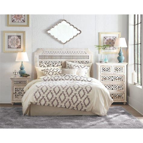 white queen headboard home decorators collection maharaja sandblast white queen