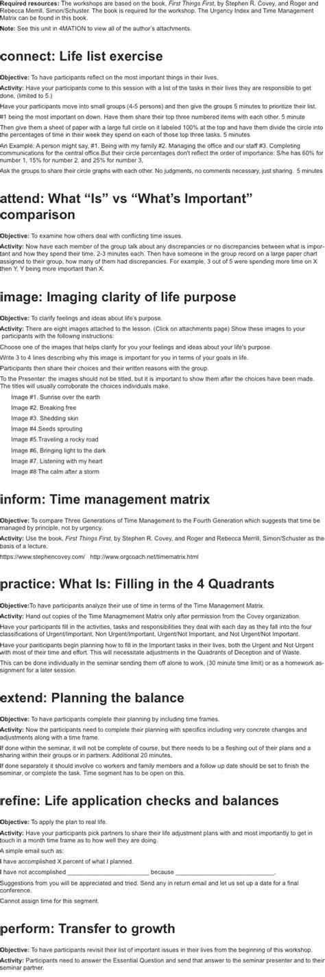 4mat lesson plan template