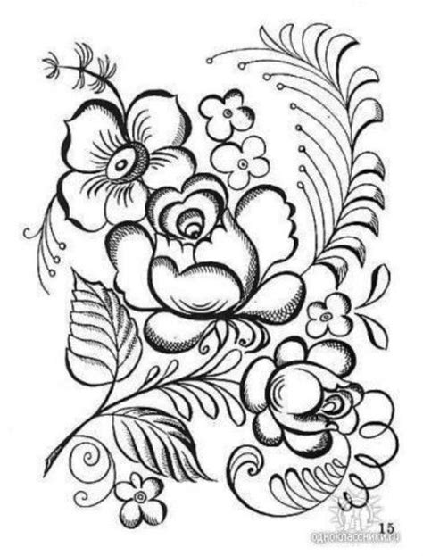 coloring pictures of pretty flowers coloring page one stroke painting coloring