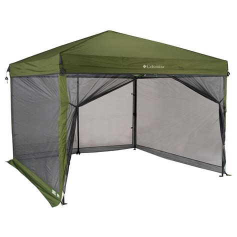 screen house gazebo 10 x 10 columbia 174 gazebo screen house green 94861