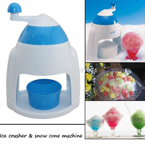 mini portable home use manual crusher and snow cone