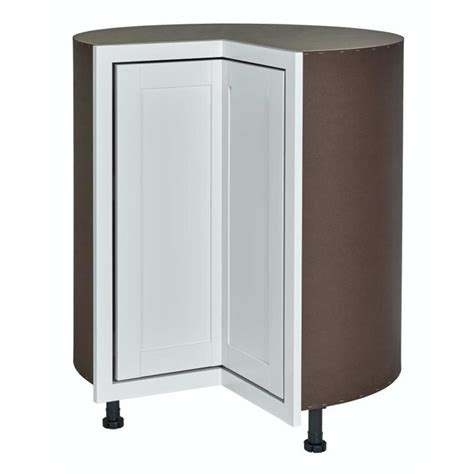 corner kitchen base cabinet shop diamond now arcadia 36 in w x 35 in h x 23 75 in d truecolor white shaker lazy susan corner