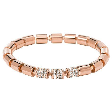 fossil beaded bracelet fossil gold plated set stretch beaded bracelet