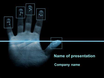 digital powerpoint template digital fingerprinting presentation template for
