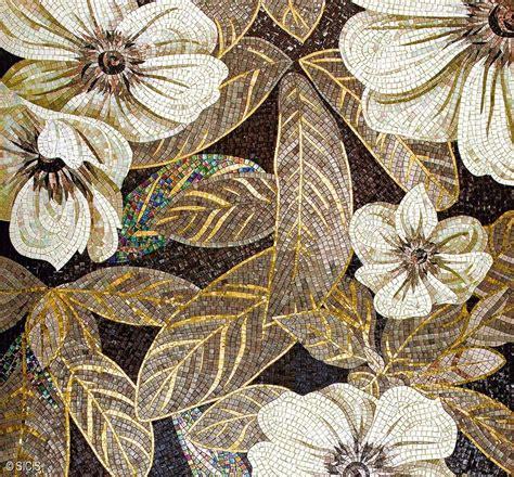 flower pattern mosaic tile vetrol golden floral mosaic tile sicis mosaic arts
