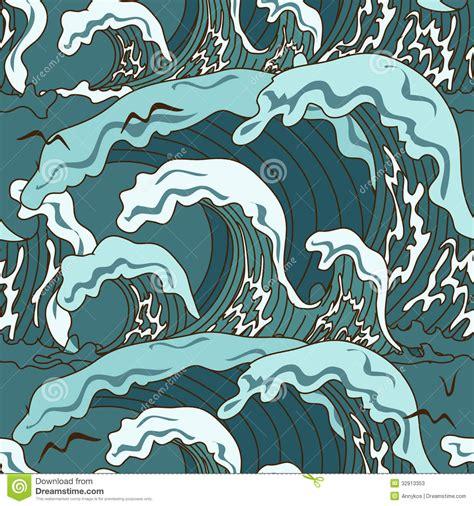 japanese ocean pattern waves of ocean seamless pattern stock vector image 32913353