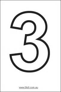 number three printable template