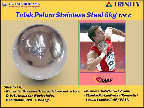 Jual Tolak Peluru Kuningan Kaskus tolak peluru stainless steel 6kg tps 6 distributor olahraga