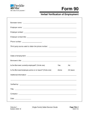 voe template standard verification of employment form fill