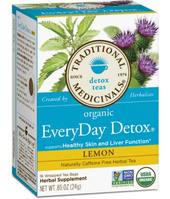 Every Day Detox Tea For Cholesterol by Traditional Medicinals Every Day Detox Lemon 16 Tea Bags
