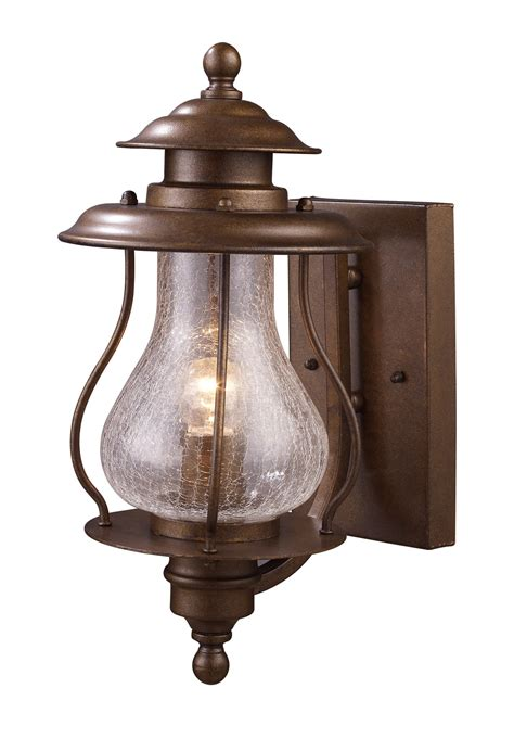 Outdoor Fixtures Lighting Elk Lighting 62005 1 Wikshire Outdoor Wall Mount Lantern