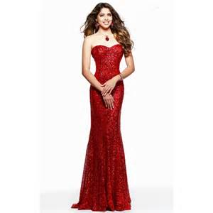 vestido de festa red evening dress sparkle sequin mermaid
