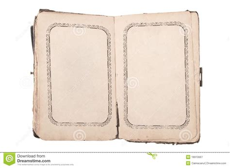 libro photographers a z old open book with blank pages royalty free stock photography image 18910667
