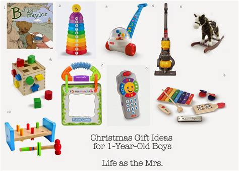 life as the mrs christmas gift ideas for one year old boys