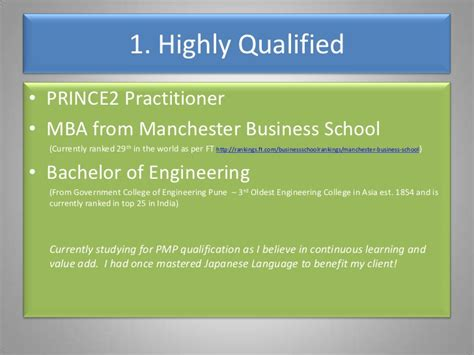 Of Manchester Mba Ranking by 10 Reasons Why You Should Hire Me