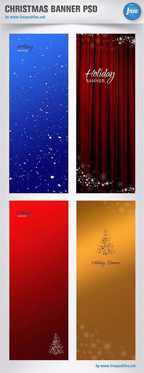 christmas banner psd templates free psd files