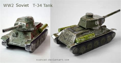 Tank Papercraft - req ww2 soviet t 34 tank papercraft 2 by svanced on